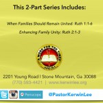 Demonstrating Family Unity Within Your Family CD - Dr. Kerwin B. Lee